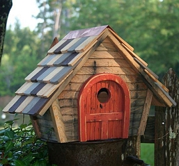 Prairie Home Birdhouse Natural