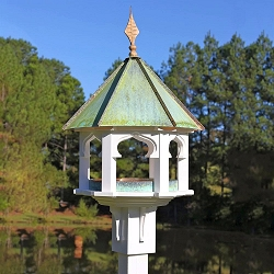 Carousel Cafe Bird Feeder Verdigris Copper Roof