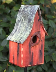 Shady Shed Birdhouse Redwood
