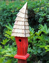 Birdiwampus Birdhouse Red