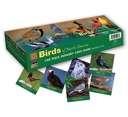 Birds of North America 100 Piece Memory Game