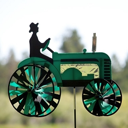Green Tractor Wind Spinner 24