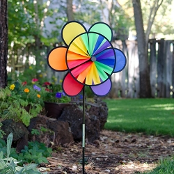 Rainbow Double Flower Wheel Combo Spinner