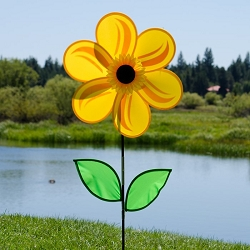 Sunflower with Leaves 19 inch Spinner