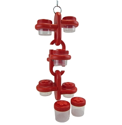 Triple Link Nectar Dots Hummingbird Feeder Red/Red