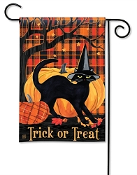 Witch Hat Cat Garden Flag