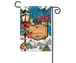 Hometown Christmas Garden Flag