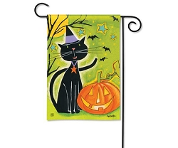 Black Cat Magic Garden Flag