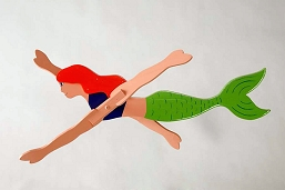Classic Swimming Mermaid Whirligig