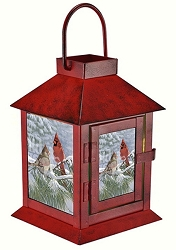 Winter Light Cardinal LED Coach Lantern