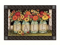 Fall Mason Jars MatMate Doormat