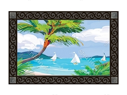 Tropical Palm Tree MatMate Doormat
