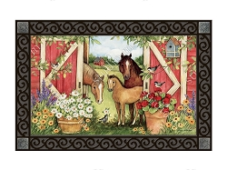 Springtime on the Farm MatMate Doormat