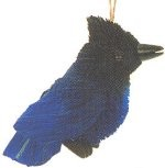 Brushkins Stellar Jay Ornament