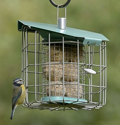 Nuttery Hexihaus Compact Caged Suet Feeder
