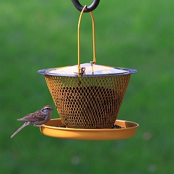 NO/NO Designer Single Tier Mesh Bird Feeder with Tray