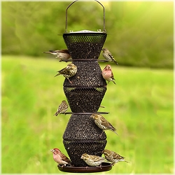 NO/NO 5-Tier Bird Feeder Bronze