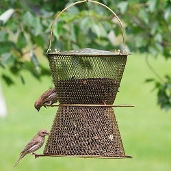 NO/NO Bronze Hourglass Bird Feeder