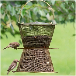NO/NO Hourglass Bird Feeder Brass