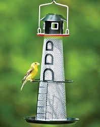 NO/NO Solar-Powered Lighthouse Finch Feeder