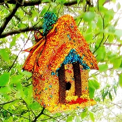 Neon Spring Cottage Edible Birdhouse