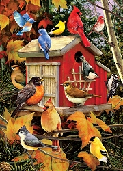 Fall Birds 1000 Piece Jigsaw Puzzle