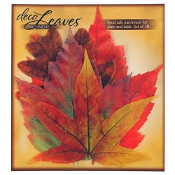 Fall Deco Parchment Leaves Set of 20