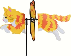 Petite Long Hair Ginger Cat Wind Spinner