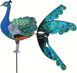 Flying Peacock Wind Spinner Large