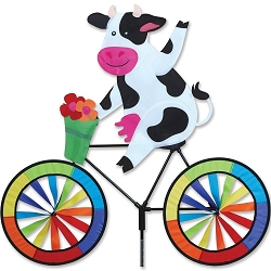 Cow Bicycle Wind Spinner Large