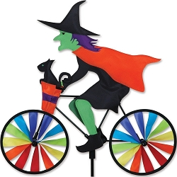 Witch Bicycle Wind Spinner Medium