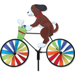 Puppy Bicycle Wind Spinner Medium