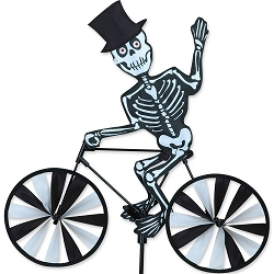 Skeleton Bicycle Wind Spinner Medium