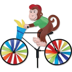 Monkey Bicycle Wind Spinner Medium
