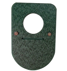 Recycled Poly Bluebird House Predator Guard Green Set of 2