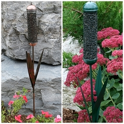 Cattail Stake Sunflower/Peanut Mesh Feeders Set of 3