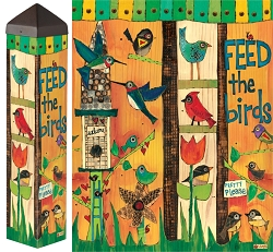 20 Inch Art Pole 4x4 Feed the Birds