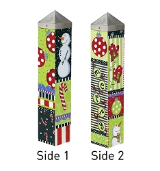 20 Inch Art Pole 4x4 Christmas Fun