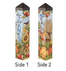 20 Inch Art Pole 4x4 Celebrate Fall