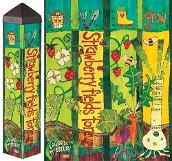 20 Inch Art Pole 4x4 Strawberry Fields Forever