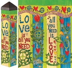 20 Inch Art Pole 4x4 Love Is All You Need