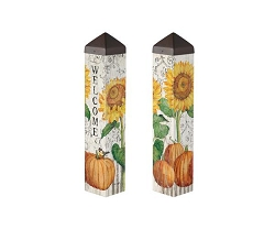 20 Inch Art Pole 4x4 Farmhouse Sunflower