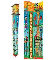 Birdhouse Art Pole Friends