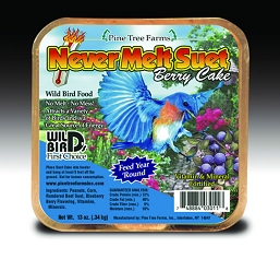 Never Melt Suet Berry Cake 13 oz 6/Pack