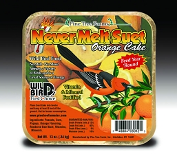 Never Melt Suet Orange Cake 13 oz 12/Pack