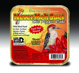 Never Melt Suet Hot Pepper Cake 13 oz 12/Pack