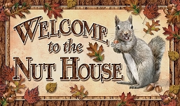 Doormat Welcome to the Nut House