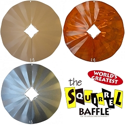 4x4 Post Wraparound Disk Squirrel Baffle