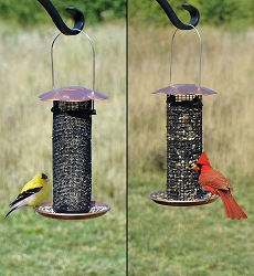 Petite Copper Thistle & Sunflower Seed Combo Feeder Set of 2