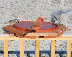 Classic Cedar Heated Deck Bird Bath